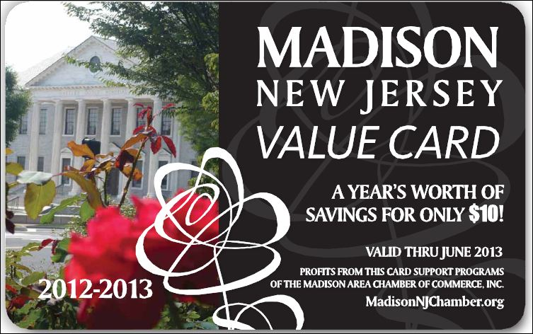 Madison NJ Value Card Program